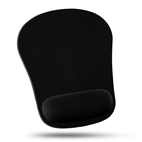 Quality Selection Comfortable Wrist Rest Mouse Pad (Black)