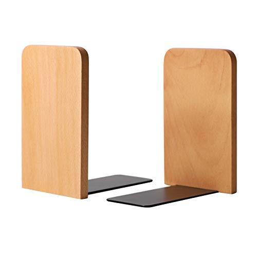 Muso Wood Buchstützenstützen für Kinder, Buchenholz Buchstützen für Regale, Buchstützen für das Home Office(130x108x80mm)