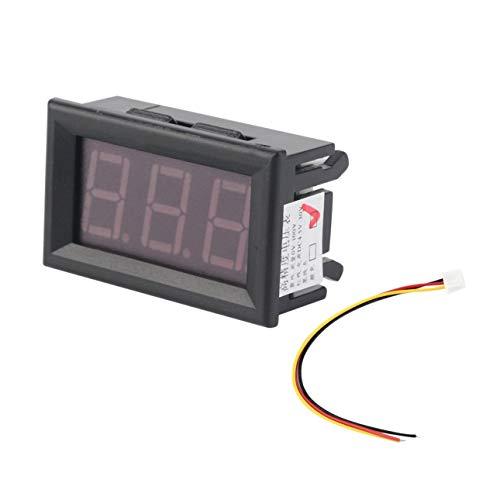 Ballylelly LED-Anzeige Hohe Messgenauigkeit Mini Digital Voltmeter 0-100 V Rote LED Fahrzeuge Motor Voltage Panel Meter