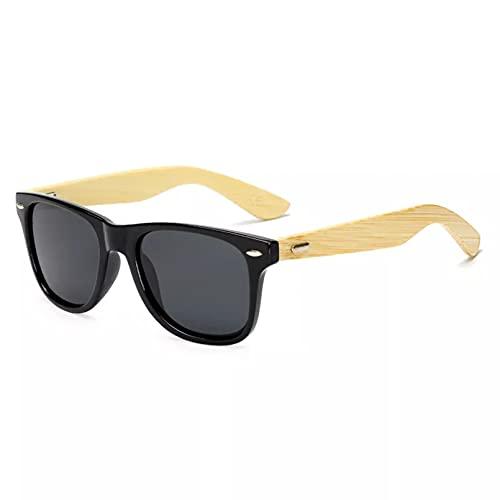 YTYASO Gafas de Sol polarizadas Gafas de Sol de Madera Hombres Mujeres Gafas de Sol de bambú para Hombres Mujeres Gafas