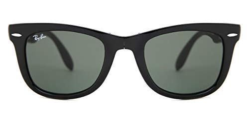 Ray-Ban Folding Wayfarer Sunglasses in Black Crystal Green RB4105 601 54