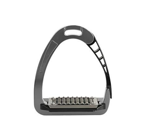 Acavallo - Estribo de Seguridad Unisex (Titanio, 12 cm)