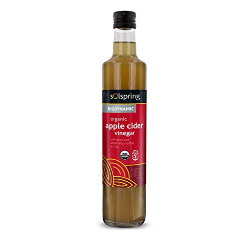 Dr. Mercola Solspring Biodynamic Organic Apple Cider Vinegar, About 33 Servings per Bottle, (16.90 fl oz), Non GMO, Gluten Free, Soy Free, USDA Organic, Organic Demeter Certified