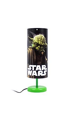 Kinder Tischlampe Nachttisch Lampe in verschieden Motiven zur Auswahl mit Kippschalter sowie 1,50m Kabellänge und Metallstandfuß (Star Wars)