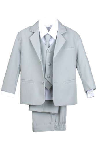 Secdtie Men's Fashion Grey Jacquard Woven Silk Tie Microfiber Formal Necktie