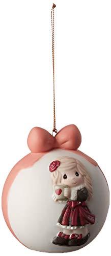 Precious Moments 191003 - Bola de porcelana para decoración de Navidad, diseño de corazón