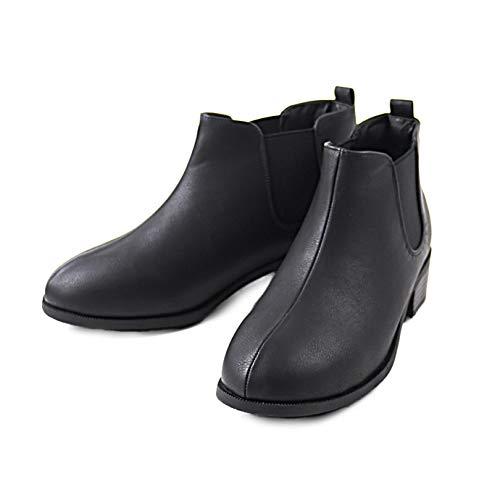 [ハッシュドコーデ] ショートブーツ Hashed Coorde レディース HC2926 サイドゴアブーツ 2011 BLACK/PU(ブラック×スムース) S(22.5cm)