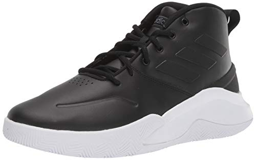 adidas Men's Own The Game Basketball Shoe, Black/Black/Night Metallic, 11 M US