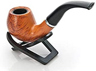 Tobacco Pipe, Smoking Pipe with Refined Smooth Chestnut Wood Design Rounded Bowl by Bliss Brands