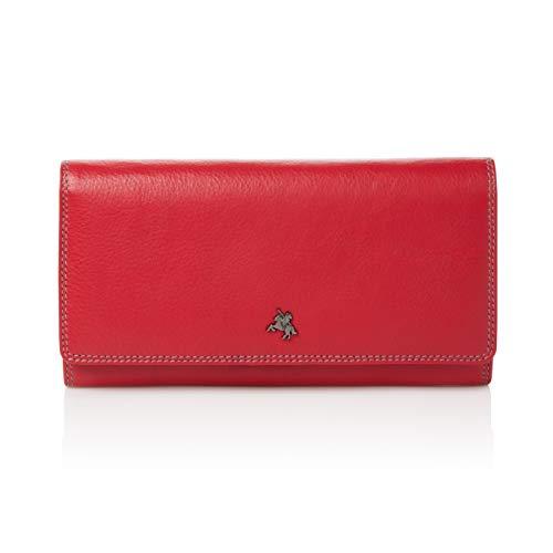 Visconti portafoglio di pelle da donna'Spectrum' multicolore Large Purse (SP36): (Multi rosso (red multi))