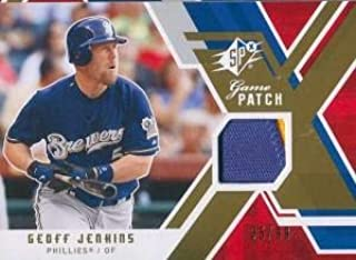 Geoff Jenkins Unsigned Two-Color Jersey Patch Card - Baseball Game Used Cards