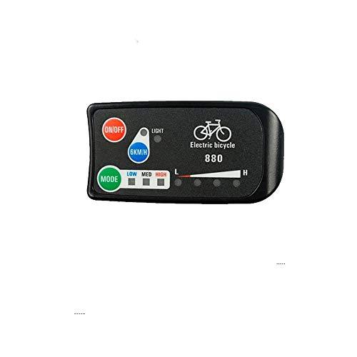 Pantalla de Bicicleta eléctrica 24V 36V 48V KT-LED880 Pantalla de Bicicleta eléctrica con Conector SM o Impermeable para Piezas de Kit de conversión de Bicicleta eléctrica (SM Plug)
