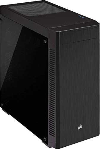 Corsair 110R, Tempered Glass Mid-Tower ATX Gaming Case, Bl