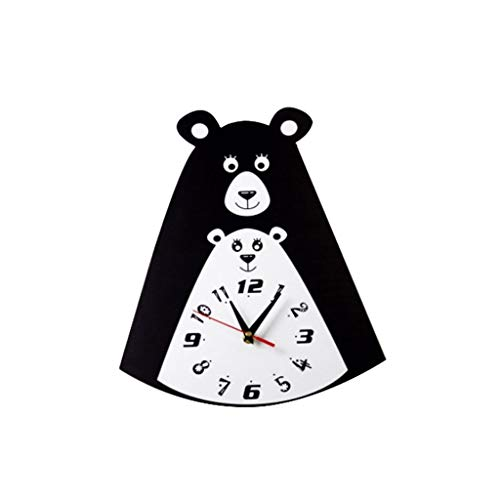 MQH Reloj Reloj de Reloj de Pared silencioso de un Solo Lado Personalidad Linda Reloj de Pared para Sala de Estar Decoración del hogar Creativo Reloj de Pared Alta precisión