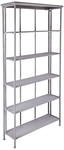 Better & Best 1401851 Librería de 6 baldas plegable hierro gris de hierro, color: gris