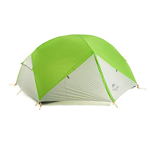 YXDEW Strong and Durable Tent Double Aluminum Pole Outdoor Tent Double Waterproof Tent Camping Hiking Picnic Tent Family Tent camping (Color : Green)
