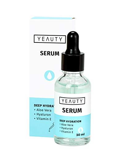 YEAUTY Deep Hydration Serum - Intensive Pflege aus Aloe Vera, Hyaloronsäure, Vitamin E, gegen trockene und spröde Haut - 1x 30ml