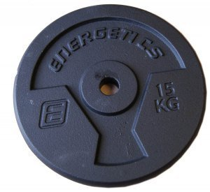 Energetics Hantelscheibe Guss (Inhalt: 2x 5,0 kg, 050 schwarz) by ENERGETICS