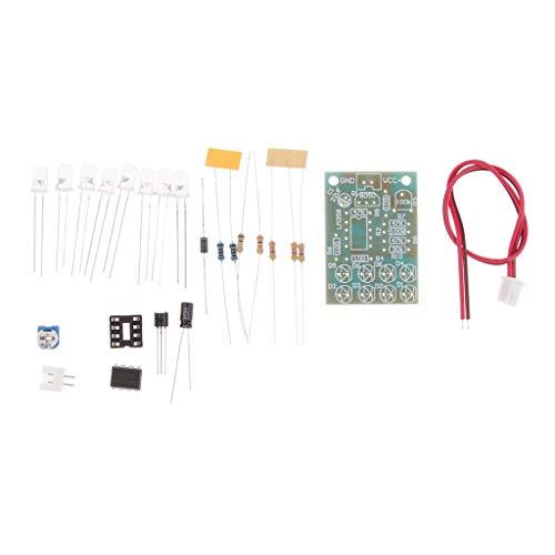 perfeclan Luz Indicadora de Respiración del Circuito de Control LM358 para Computadoras Audio Automotriz - Blanco