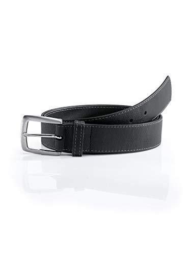 Walbusch Herren Leder Dehngürtel einfarbig Schwarz 105cm
