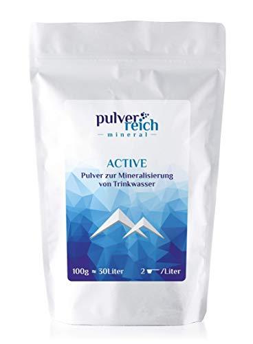 Pulverreich - Elektrolyte pur für Sport und Hitze - ohne Aroma, zuckerfrei, optimal für Trinksysteme und Wassersprudler, 100g