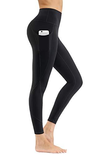 HKJIEVSHOP High Waist Yoga Pants, Pocket Yoga Pants Tummy Control Workout Pants 4 Way Stretch Pocket Leggings
