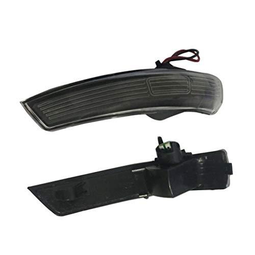 Viesky - 2 luces LED intermitentes para espejo lateral negro