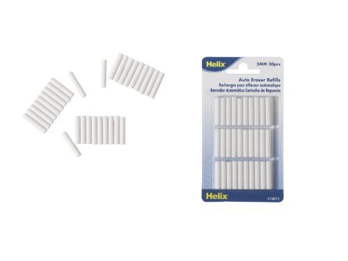 Helix Automatic Eraser Refills, Pack of 30 (19071)