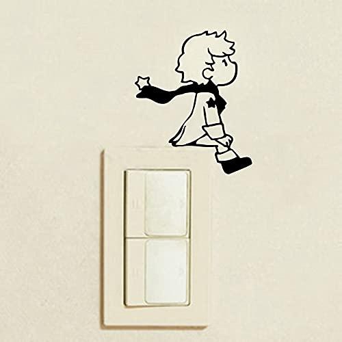 2 Pegatinas para Interruptor de Pared Prince para decoración de Pared de habitación de niño para niños - Pegatina para Interruptor de luz Prince