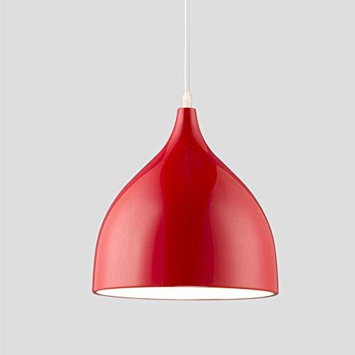 Lampadario Moderno LED, creativo Plafoniera,Lampadari Cucina, Camera da Letto, Salotto, Rosso,Adatto a soggiorno, sala da pranzo, biblioteca, ecc.