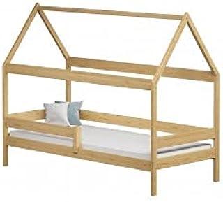 Children's Beds Home - Lit simple en forme de maison - Teddy - Lit simple - Teddy - 180x90 - Naturel - Matelas en mousse d...