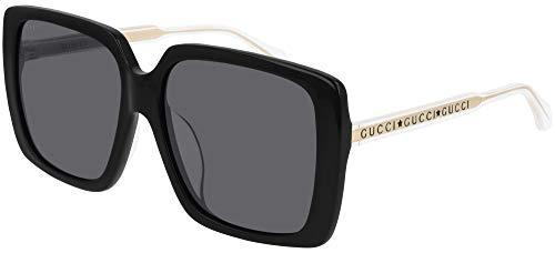 Gucci GG0567SA-001-58 Gafas, Black/Grey, 58.0 Unisex Adulto
