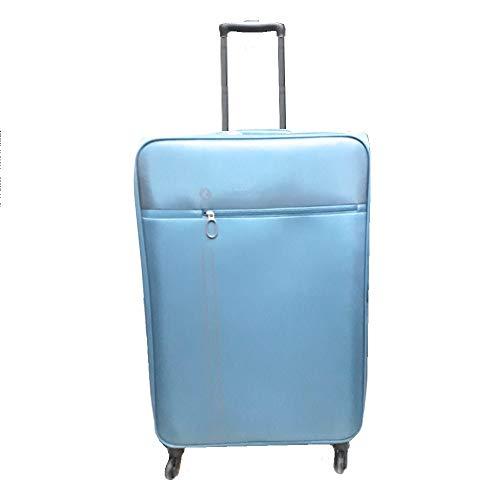 One Way - Juego de 3 maletas con ruedas redondeadas, ultraligeras, color celeste