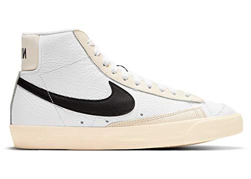 Nike Wmns Blazer Mid '77, Zapatillas de bsquetbol Mujer, Summit White Black Pale Ivory Beach White, 36 EU