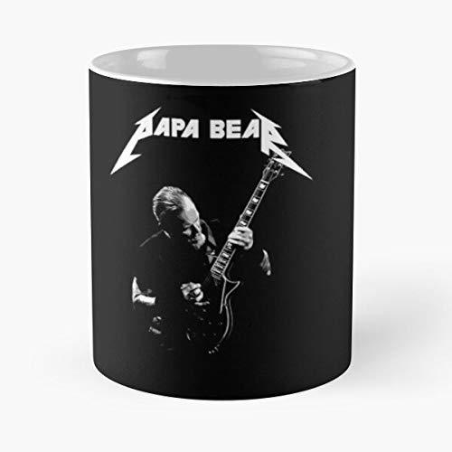 Guitar Metalhead Four Hetfield James Trash Alcohlica Metallica Big Metal Heacy Best 11 oz Kaffeebecher - Nespresso Tassen Kaffee Motive