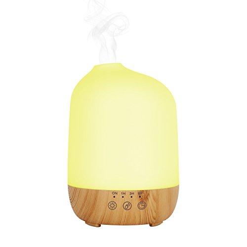 Aroma Ätherisches Öl Diffusor, INKERSCOOP Ultraschall 300ml Cool Nebel Luftbefeuchter Aromatherapie mit Touchscreen, 7 Farbe Nachtlicht für Büro Schlafzimmer Wohnzimmer Yoga Spa