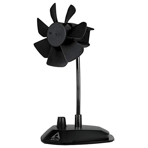 Arctic Breeze - Elegante Ventilatore da Tavolo Usb con Collo Flessibile e Velocità Regolabile - Nero