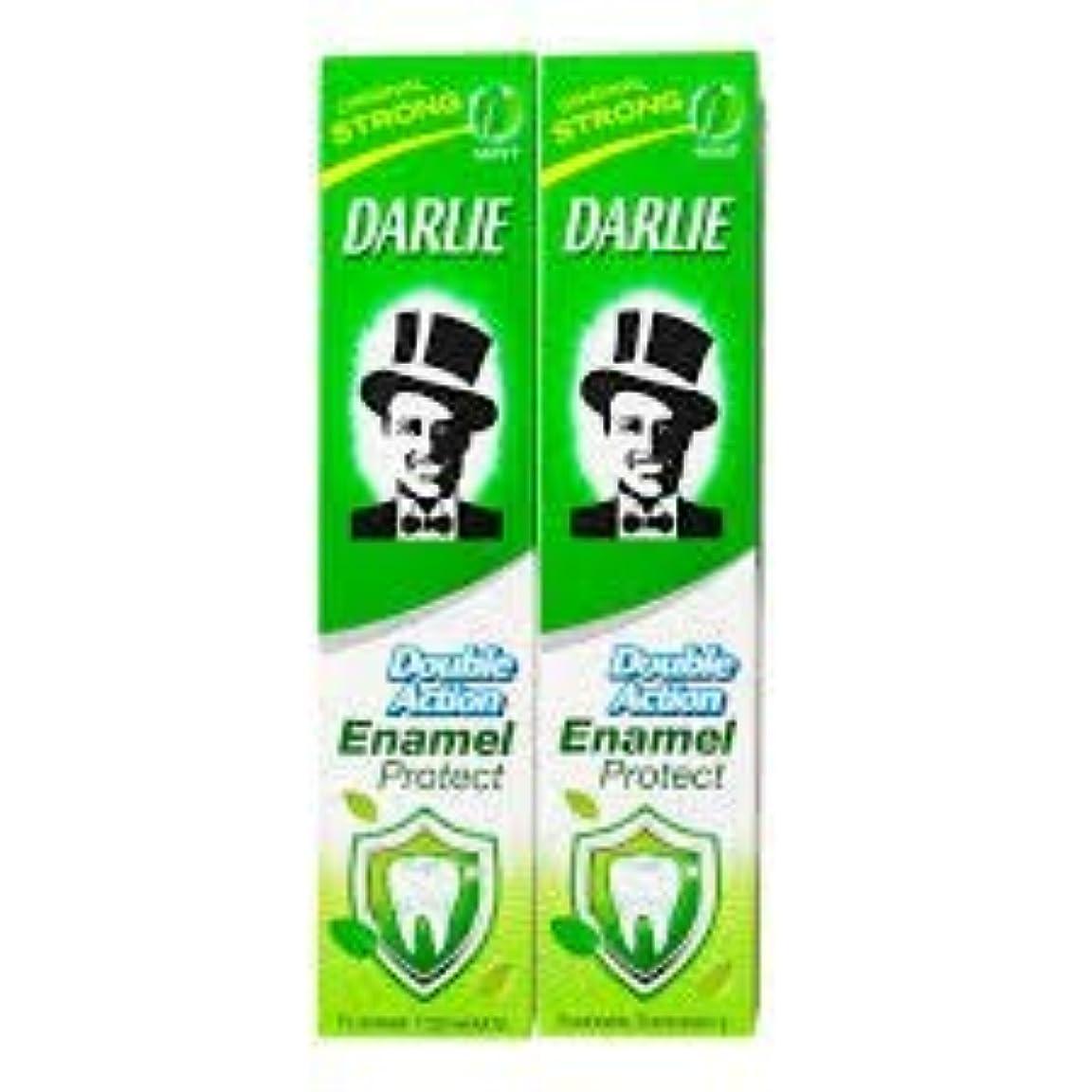 損なう一過性テメリティDARLIE 歯磨き粉歯磨き粉二重の役割、保護エナメル強いミント2×220ケ - あなたの歯を強化し、防御の最前線