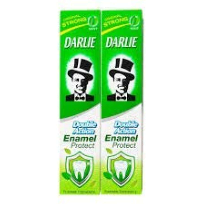 ブラスト本当のことを言うと尾DARLIE 歯磨き粉歯磨き粉二重の役割、保護エナメル強いミント2×220ケ - あなたの歯を強化し、防御の最前線