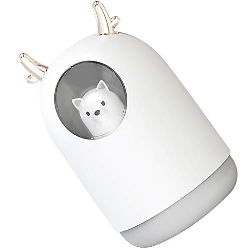 USB Power Nano-Luftbefeuchter Moisturizing Low-Luftdiffusor Luft Lärm Luft Diffusor beweglicher Karikatur-Entwurf Atomizer, Weiss