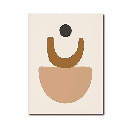 Impresión de arte de pared de tono neutro abstracto cartel moderno de mediados de siglo arte de tono de tierra pintura en lienzo sala de estar pintura decorativa sin marco A116 50x70cm