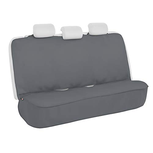 Motor Trend AquaShield Gray Waterproof Rear Bench Car Seat Cover