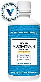 Liquid Multivitamin Orange Vanilla Flavor (32 Liquid Ounces) by The Vitamin Shoppe