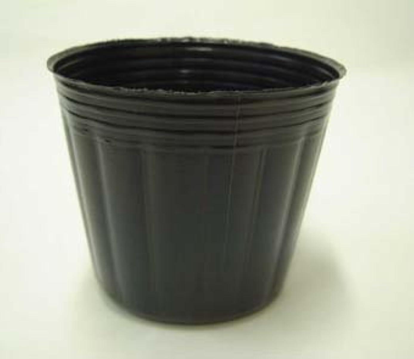 二週間幾何学液体ポリポット 10.5cm 黒 1500個 ビニールポット