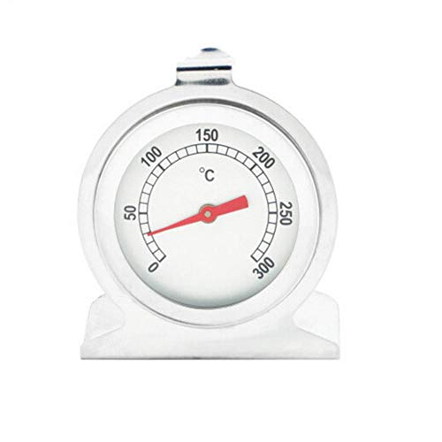 vogueyouth Backofenthermometer Edelstahl, einfach ablesbar, analoges Zifferblatt 0-300 ℃ Backofenthermometer für Backofen