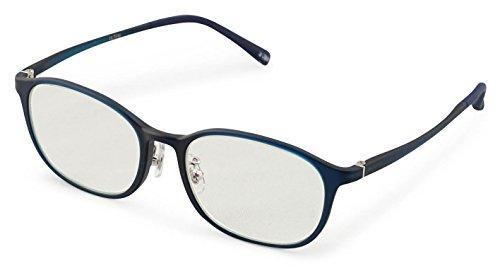 藤田光学 老眼鏡 ブルーライトカット 3.0 度数 スマホリーディンググラス 超弾性フレーム ブルー PCRU-102MBL +3.00