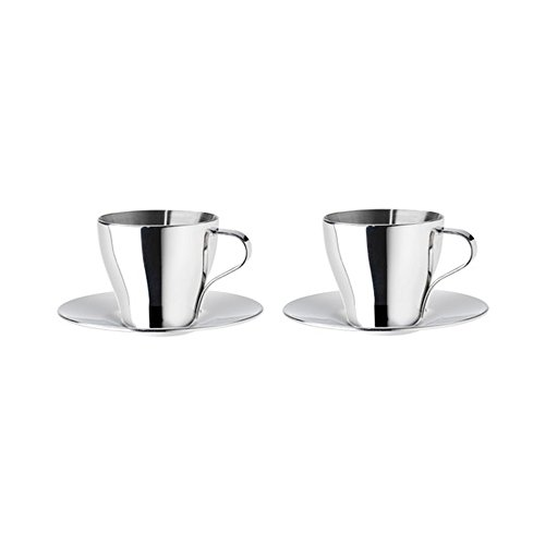 IKEA (IKEA) KALASET 70161867 espresso cup and saucer, stainless steel (japan import)