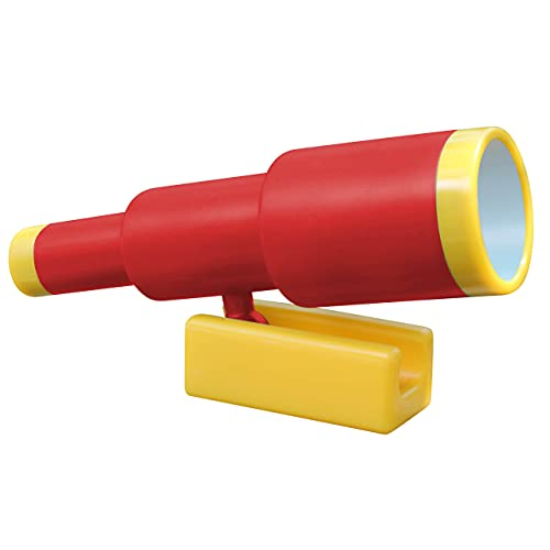 Jungle Gym Kingdom Playground Accessories - Red Pirate Ship Telescope for Kids - Plastic Accressory for Outdoor Playhouse, Playset, Backyard Swing Set - Replacement Parts for Treehouse