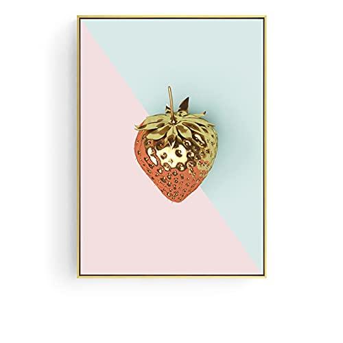 Nordic Fruit Banaan Ananas Print Poster Canvas Schilderij Abstract Decoratieve Foto Modern Home Decor B19 50 × 70 CM Zonder Frame