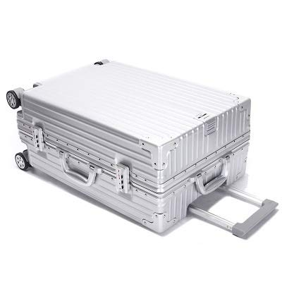 Luggage Aluminum Frame Trolley Case Universal Wheel Scratch Resistant 24 Inch Luggage PC Suitcase 20 24 26 29inch Boarding Case For travel and business trips (Color : C6, Size : 24inch)
